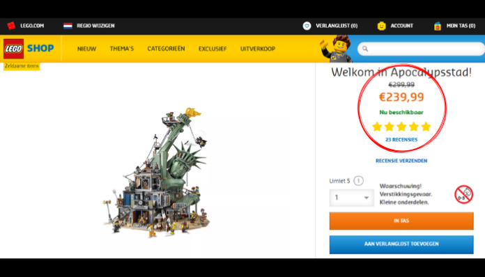 LEGO 70840 Welcome to Apocalypseburg aanbieding