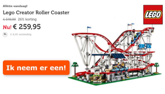 LEGO Roller Coaster voor €259,95