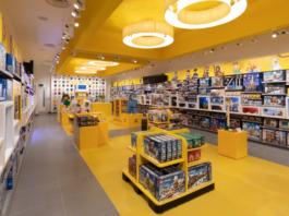 De Mozaïek Maker in de Londen Flagship LEGO-winkel