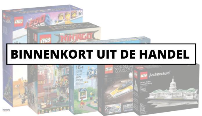 LEGO sets binnenkort uit de handel