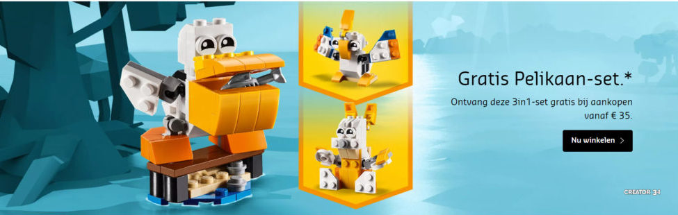 LEGO Creator Pelican promotie