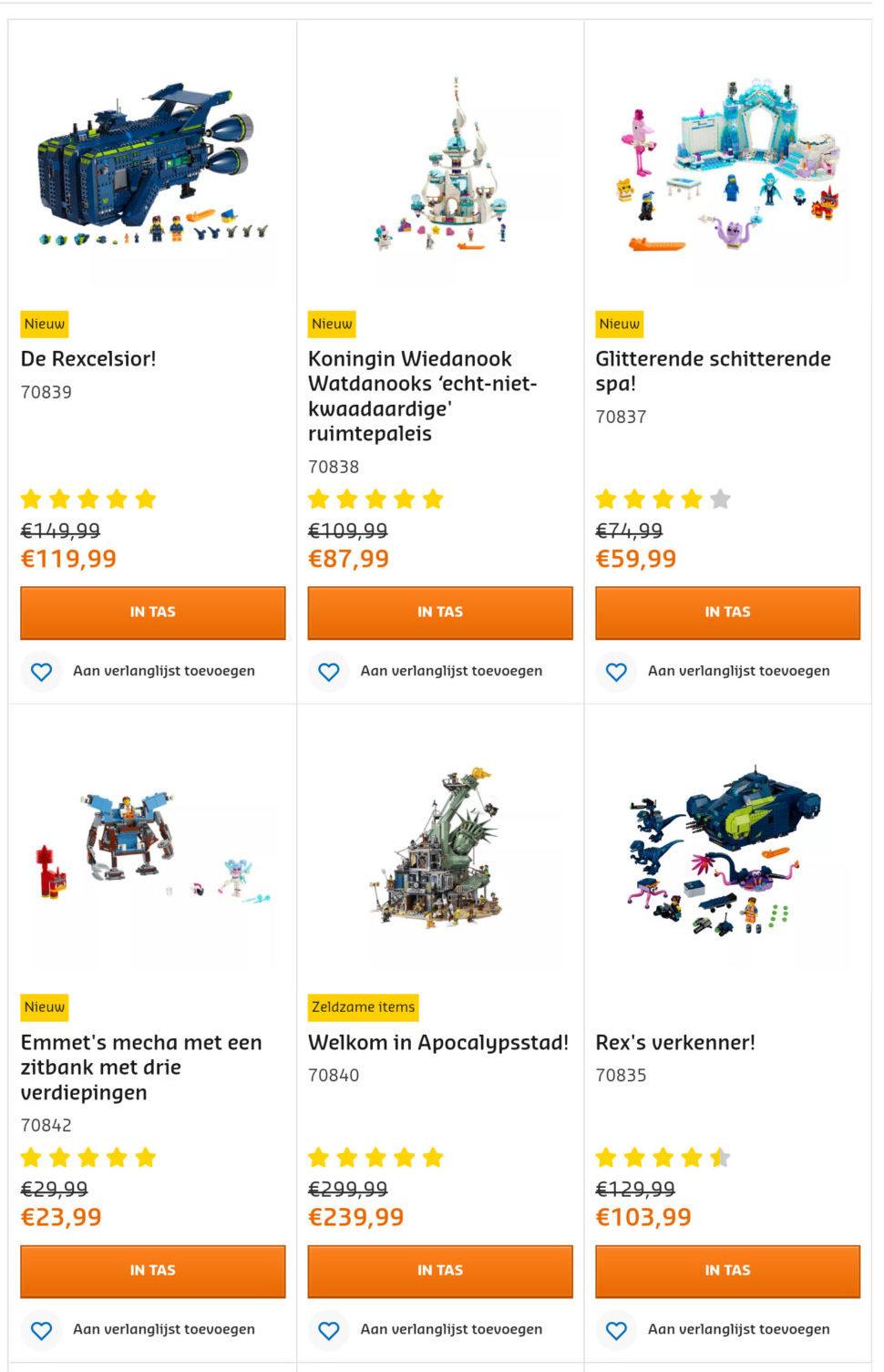 Uitverkoop] LEGO sets binnenkort uit de handel (update 01-07