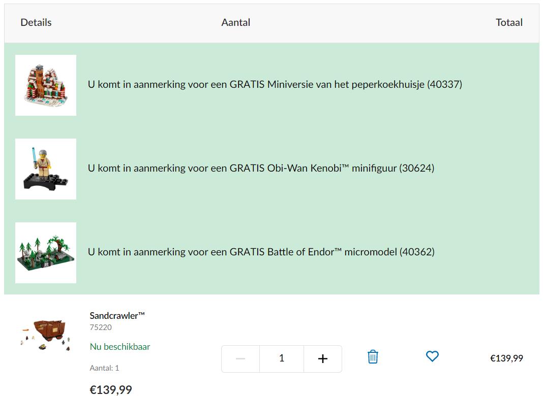 Gratis LEGO 40362 Battle of Endor