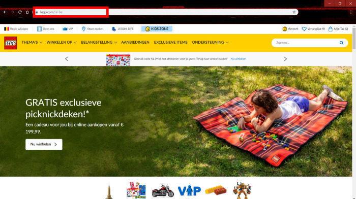 LEGO Shop@Home Belgiënu ook in het Nederlands