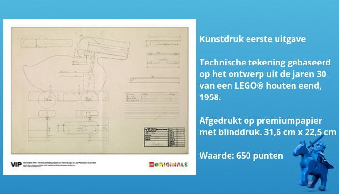 LEGO VIP Originals Technische tekening LEGO eend