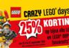 25% korting tijdens Crazy LEGO Days