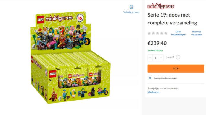 LEGO verkoopt dozen LEGO Minifigures series 19