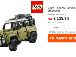 [Aanbieding] LEGO Land Rover Defender voor €159,95