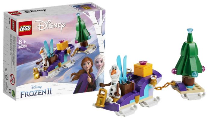 Gratis LEGO 40361 Olaf's Traveling Sleigh