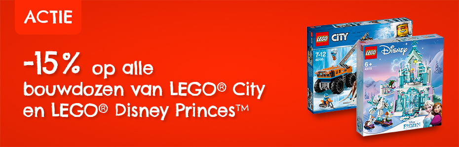 15% korting LEGO City en Disney
