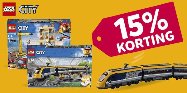 15% korting LEGO City