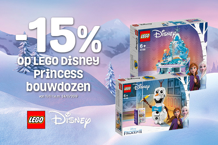 15% korting op LEGO