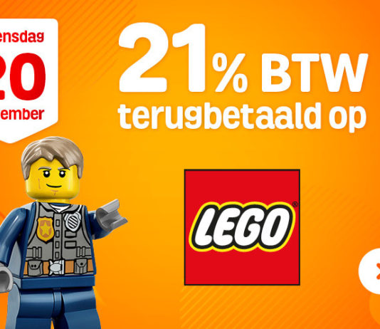 21% korting op LEGO