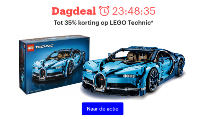 35% korting op LEGO Technic