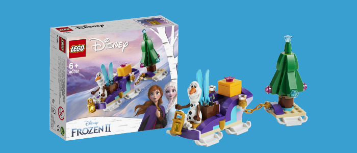 Gratis LEGO 40361 Olaf's Traveling Sleigh