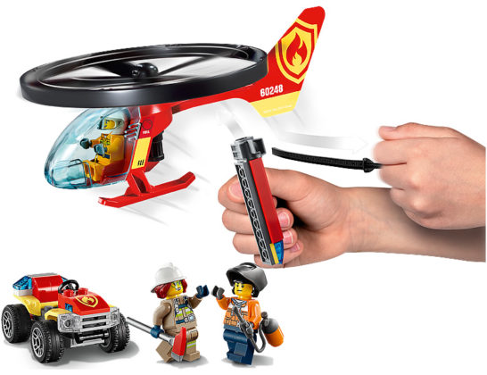 LEGO City 60248 Helicopter Fire Response