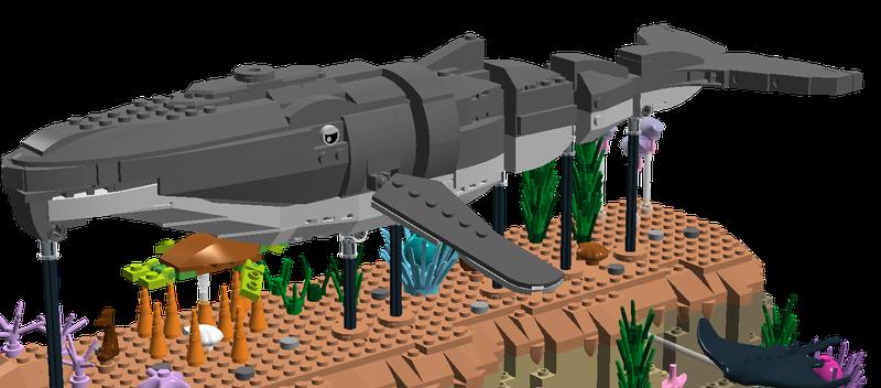 LEGO Ideas Humpback Whale Kinetic Sculpture