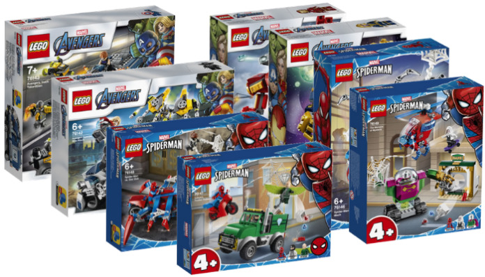 LEGO Marvel winter 2020 sets