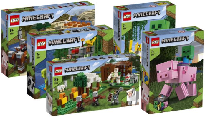LEGO Minecraft winter 2020 sets