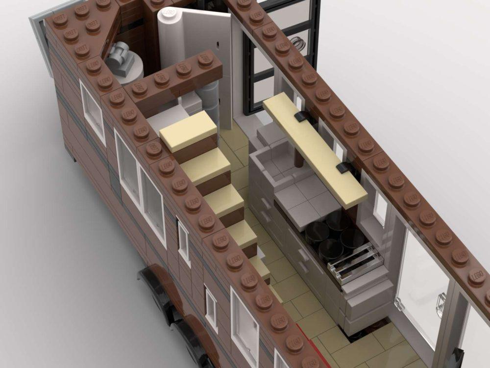 LEGO Tiny House on Wheels
