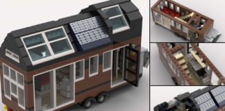LEGO Tiny House on Wheels