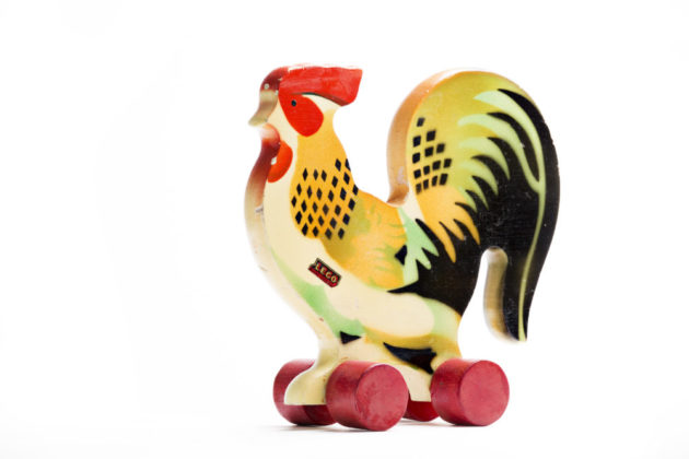LEGO wooden rooster