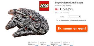 LEGO Millennium Falcon voor €599,95
