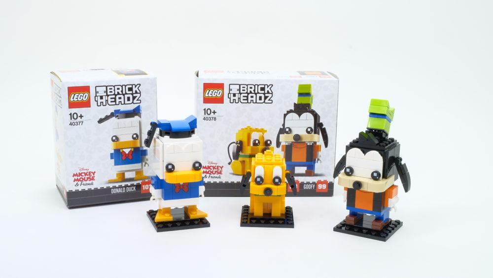 LEGO BrickHeadz 40377 Donald Duck - LEGO BrickHeadz 40378 Pluto & Goofy