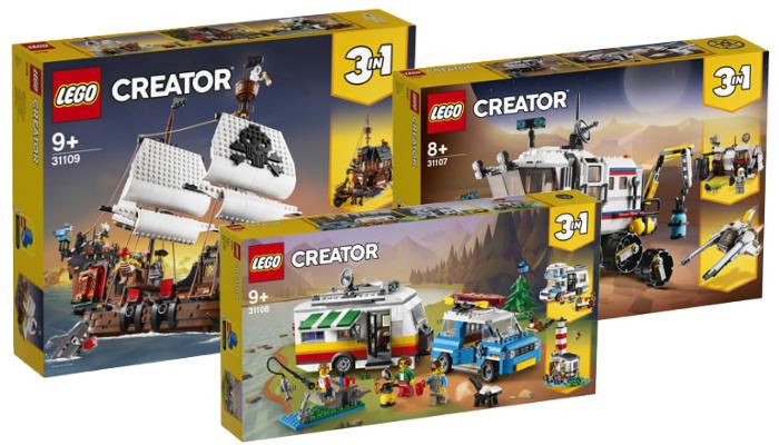 LEGO Creator zomer 2020 sets