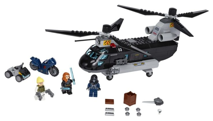 LEGO Marvel 76162 Black Widow Helicopter Chase