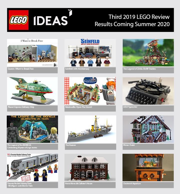 Kandidaten derde LEGO Ideas review 2019