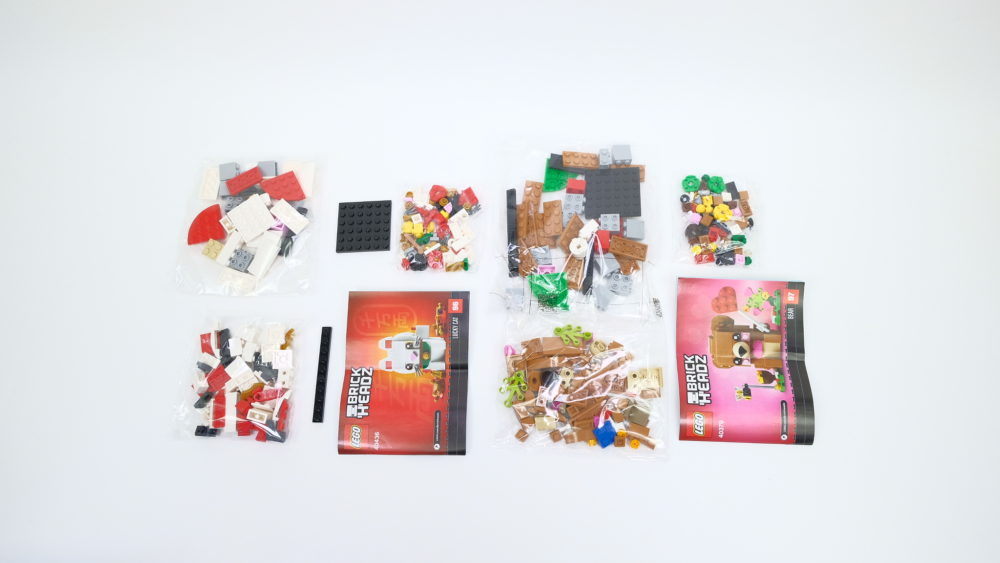 LEGO 40379 Valentine's Bear - LEGO 40436 Lucky Cat