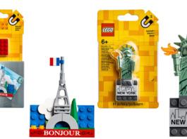 LEGO Eiffel Tower - LEGO New York Magnet