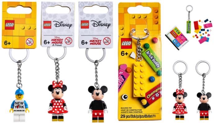 LEGO Mickey - LEGO Minnie - LEGO New York Key Chains