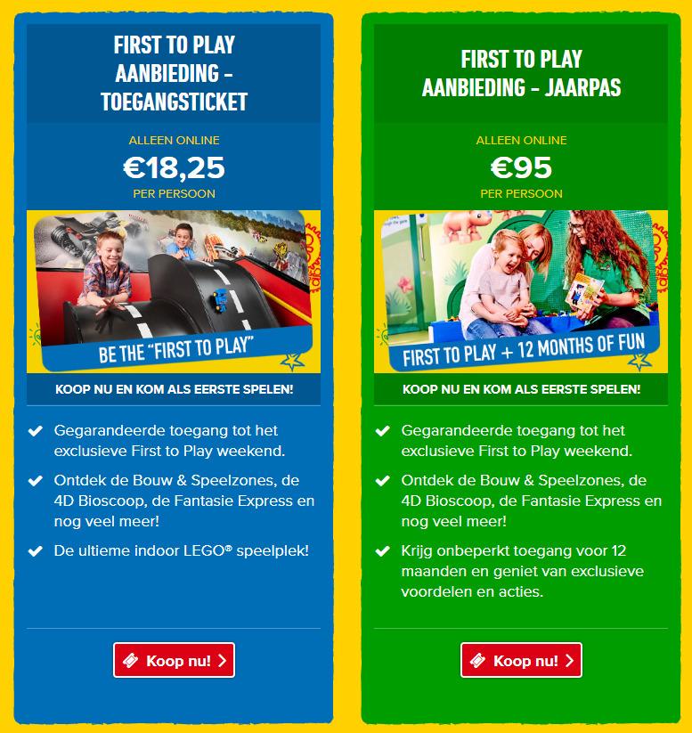 LEGOLAND Discovery Cente Scheveningen First To Play