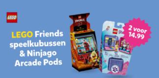 2e halve prijs Ninjago Arcades en Friends Cubes