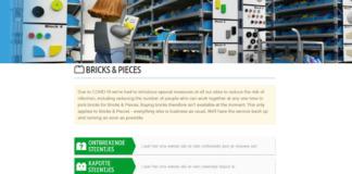 LEGO Bricks & Pieces tijdelijk niet beschikbaar