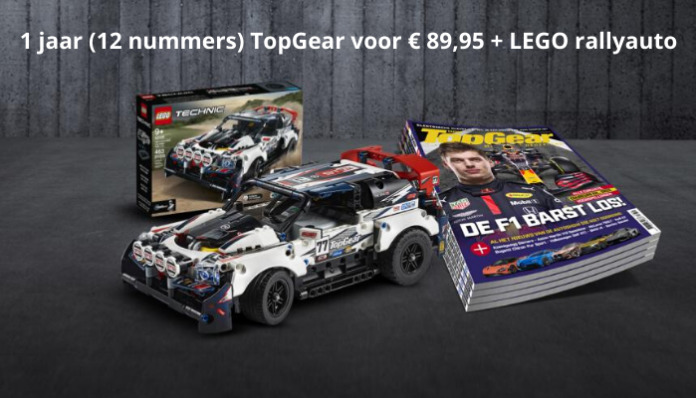 TopGear voor € 89,95 + LEGO rallyauto