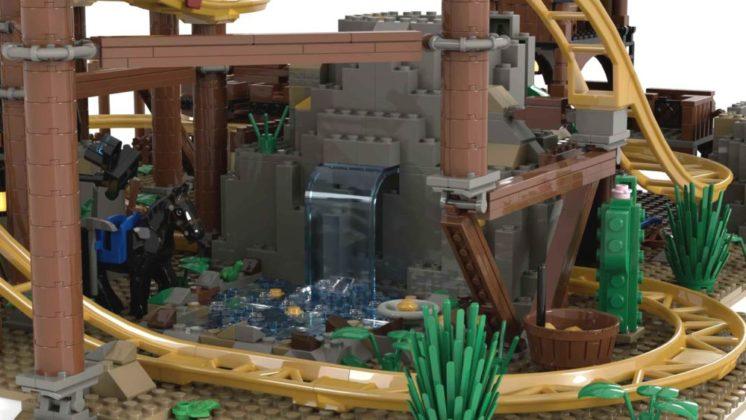 LEGO Ideas Gold Rush Mine Train Roller Coaster