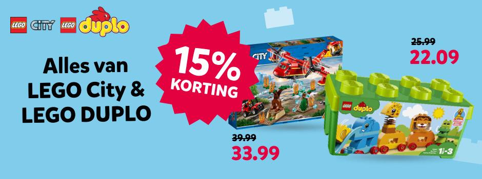 15% korting LEGO City en Duplo