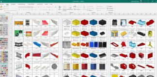 Handige digitale onderdelenlabels voor sorteren van LEGO