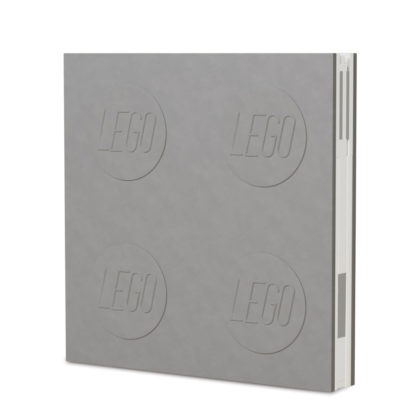 LEGO 2.0 Locking Notebook with Gel Pen - Grey