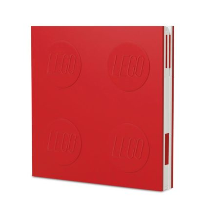LEGO 2.0 Locking Notebook with Gel Pen - Red